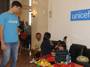 Djokovic Is On The Job For UNICEF
