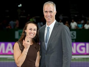 Martina Hingis Presented With Hall of Fame Ring