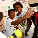 Venus Williams Meets With Kids Attending BNP Paribas WTA Finals Singapore