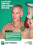 John McEnroe Is Spokesman For BNP Paribas