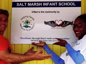 Serena Williams Lends a Hand in Jamaica to Build Salt Marsh Infant School