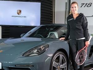Porsche Brand Ambassador Angelique Kerber Unveils 718 Cayman